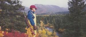 My son, Adam, moose hunting in the Kenai Mountains
