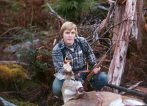 A younger me with a blacktail buck, Ketchikan, Alaska