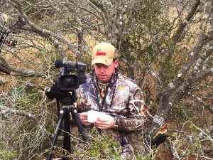 "Jason Cruise and I were in osuth Texas hunting hogs and filming for his cable TV show ""Things Men Do."""