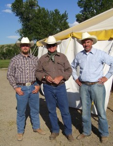 Cody Wood, me, and Paul Seddon, Livngston Round Up.