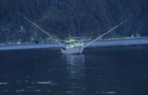 "My troller, ""Debit,"" near Haktaheen, Cross Sound, Alaska"