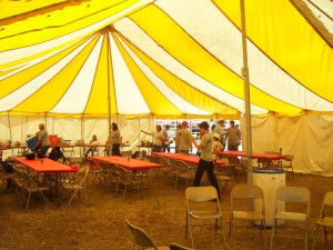 Spotswood work team manned the hospitality tent serving the rodeo cowboys.